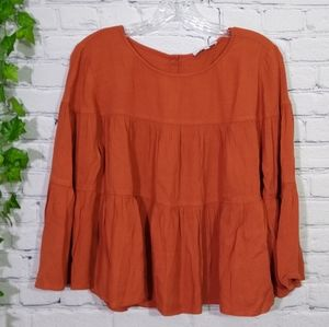 Madewell women's top buttoned back large
